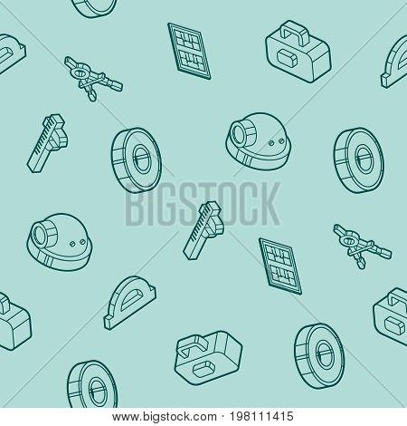Engineering outline pattern. Construction Engineer. Vector illustration EPS 10