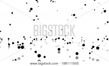 3D illustration of Many Pala Pelota balls raining with a reflecting floor and a white background