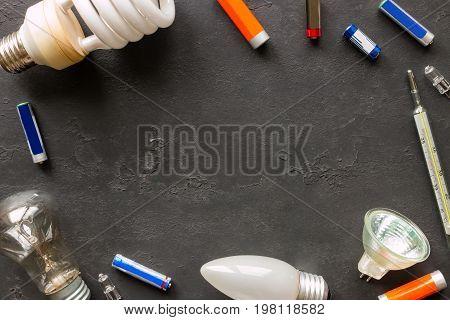 Hazardous Waste On A Black Background Mockup