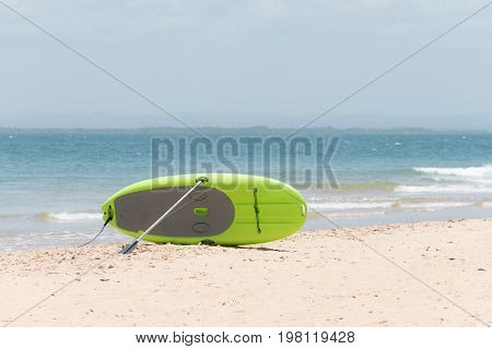 Close Up Of A Stand Up Paddling