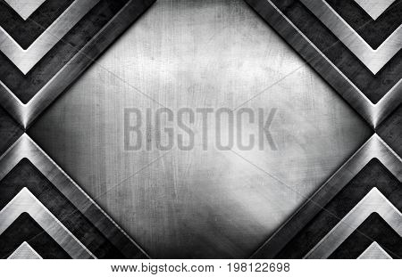 stained metal with rhombus design background