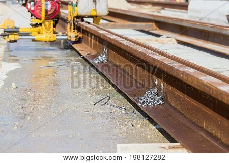 Boring Holes In The Rail