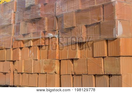 Hollow Clay Block Background