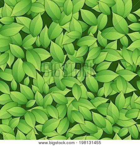 Nature abstract green seamless pattern. Vector illustration