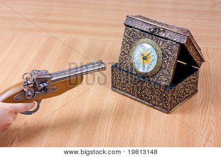 Clock And Gun
