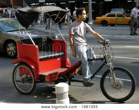 Manhattan Bicycle Rickshaw