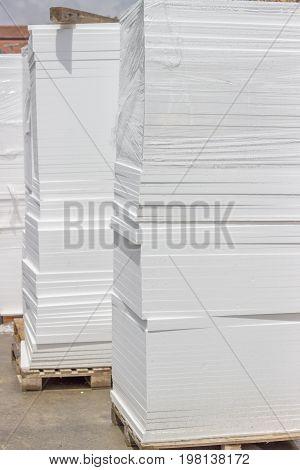 Pallet Of Styrofoam Sheet Insulation