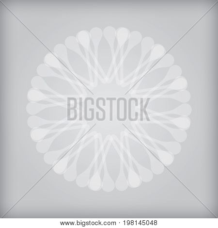 Black and white network icon abstract illustration
