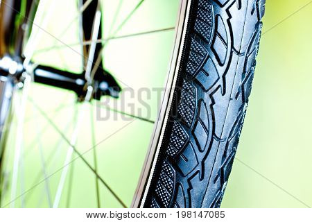 Detail Of Rubber Tire Of New Bicycle