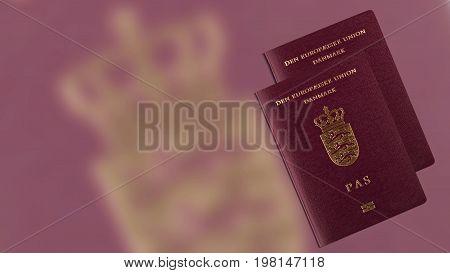 Danish passport , international id for danish citizen