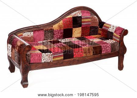 Indian traditional divan on a white background