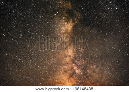 Milky way galaxy. Great plan.Night sky with stars.