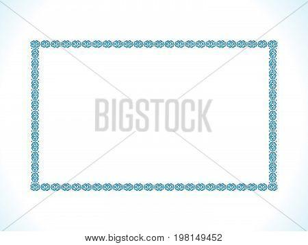 abstract artistic creative blue border vector illustration