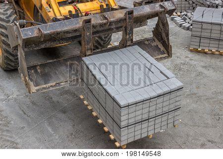 Concrete Stones For The Sidewalk Pavement