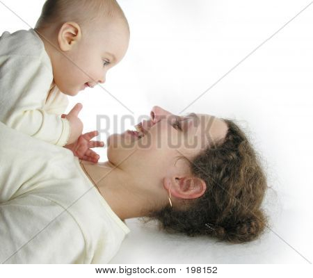 Mother With Baby Isolated
