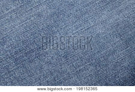 Closeup of denim jean texture with seam. You can apply for jean background