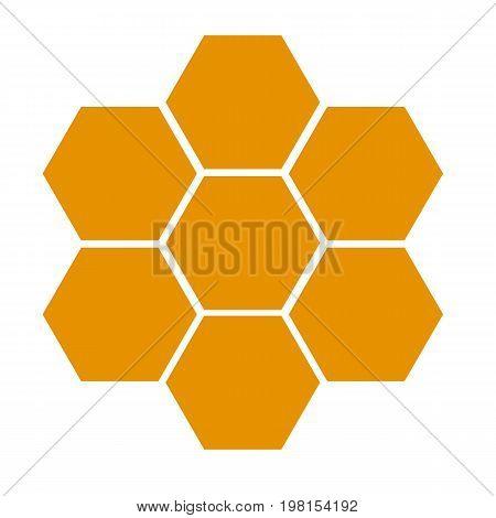 honeycomb icon on white background. flat style design. honeycomb sign.