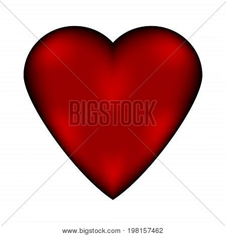 Love sign heart icon isolated on white background.