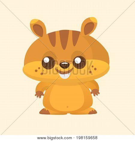 Squirrel chipmunk cartoon. Wildlife animal vector illustration