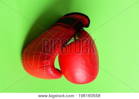 Sport Equipment Isolated On Light Green Background. Pair Of Sportswear