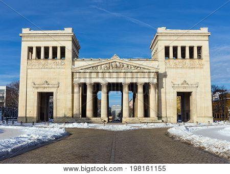 The Propylaea city gate in Munich, Germany