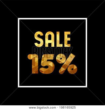 Sale 15% Off Gold Quote For Business Discount