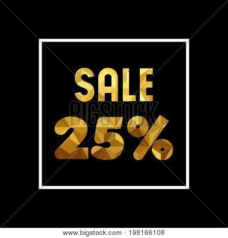 Sale 25% Off Gold Quote For Business Discount