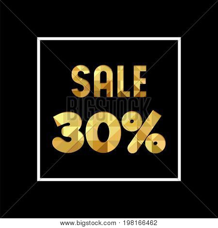 Sale 30% Off Gold Quote For Business Discount