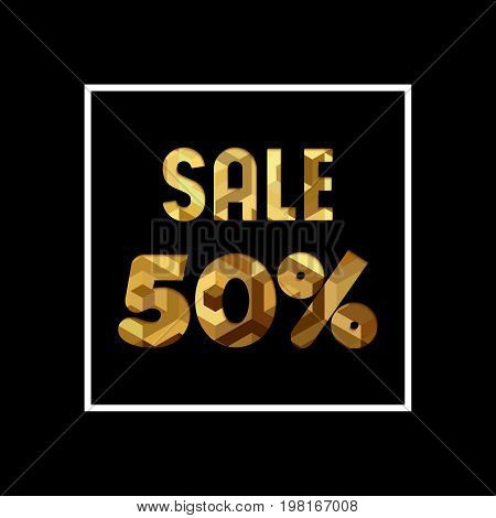 Sale 50% Off Gold Quote For Business Discount