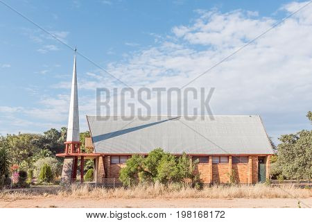 OTJIWARONGO NAMIBIA - JUNE 20 2017: The Reformed Church in Otjiwarongo in the Otjozondjupa Region of Namibia