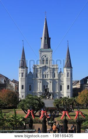 Jackson Square In New Orleans On A Clear Day