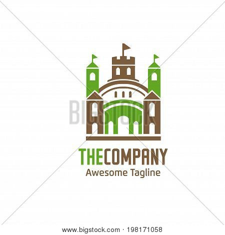 modern and elegant green house palace Logo concept