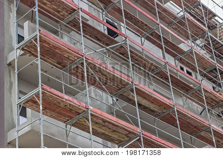 Extensive Scaffolding On Building 3