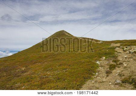 High to the peak of the Städjän mountain in Idre.