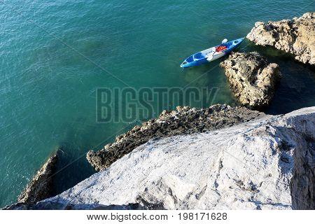 Kayaking with ocean views at archipelago island Ang Thong Thailand.