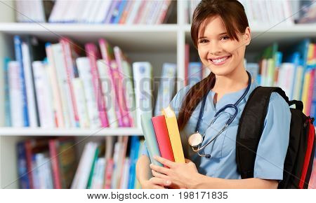 Medical student white background healthcare and medicine one person young adult medical occupation