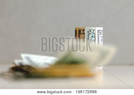 One Hundred-dollar Bills Isolated On A White Background
