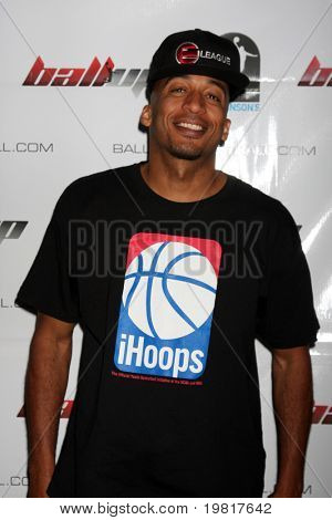 LOS ANGELES - MAY 1:  James Lesure arriving at the 1st Annual Ball Up Celebrity Streetball Game at Cal State Northridge's Matadome Stadium on May 1, 2011 in Northridge, CA