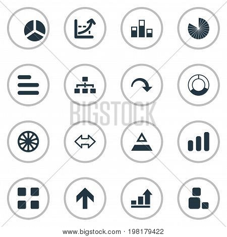 Elements Reverse Arrows, Triangle, Growth And Other Synonyms Component, Strategy And Direction.  Vector Illustration Set Of Simple  Icons.