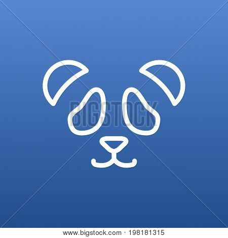 Vector Feline Bear Element In Trendy Style.  Isolated Panda Outline Symbol On Clean Background.