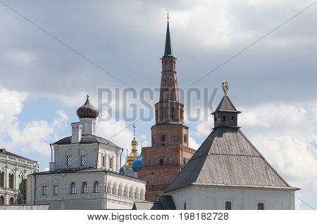 Kazan republic of Tatarstan Russia view of the Kazan Kremlin