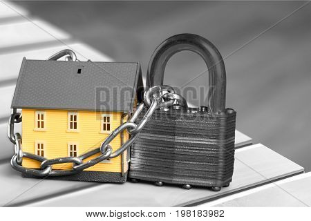 Concept real estate white background close up studio shot horizontal format architectural model