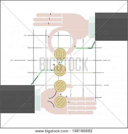 Forex - multiply your money. money in hand. Forex Currency Trading Concept. Financial Markets and Global Economy Concept.