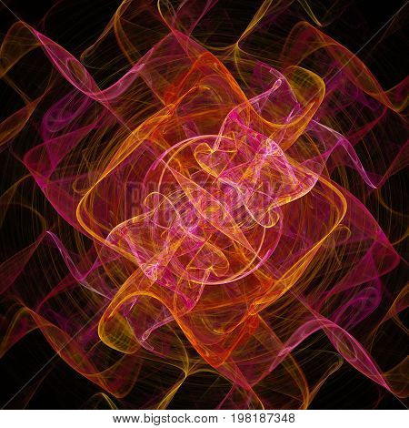 Colorful glowing pattern, abstract art for background