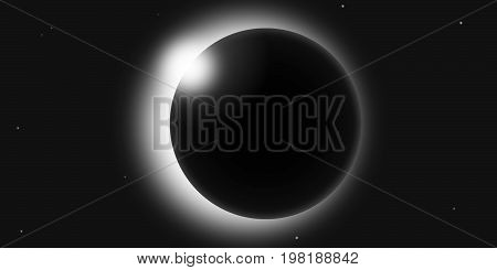 A solar eclipse vector illustration, EPS and jpg file