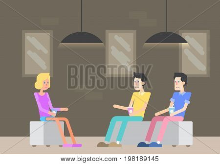 two gay men on a conversation with a family psychologist. psychologist talk