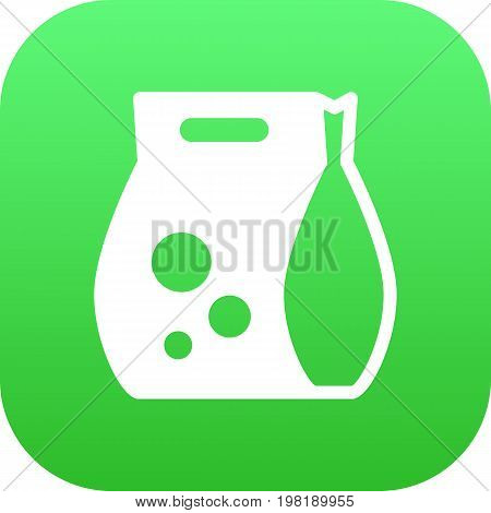 Vector Washing Powder  Element In Trendy Style.  Isolated Detergent Icon Symbol On Clean Background.