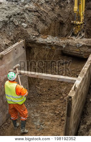 Working On Trench Construction 2