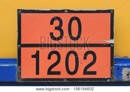 Orange Plate With Hazard Identification Number