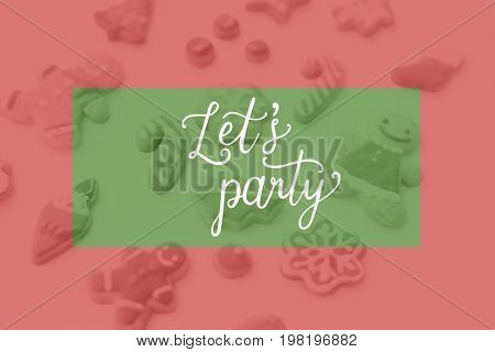 Lets party celebration occasion word